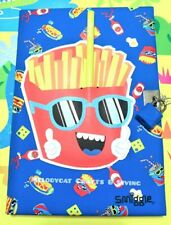 SMIGGLE Scratch 'n' Scent🍟Happy Fries🍿 A5 Lockable Diary Notebook Journal