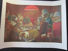 DOGS PLAYING POKER ART PRINT - Pinched w/ 4 Aces by C.M. Coolidge Dog Poster x 4