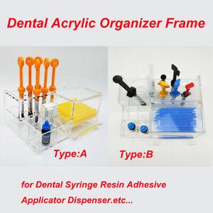 12Hole Syringe Acrylic Organizer Holder Case Frame Dental Resin Composite Newest