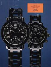 2000 Men's Women's Hermes 'Clipper' Sport Chrono Watch photo vintage print ad