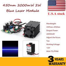 Focusable PWM & TTL 2W 2000mW 450nm blue laser module Engrave Cutter Engraving