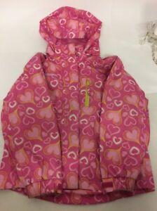 Mountain Warehouse Pink Girls Jacket Age 7-8 Years Detachable Hood Heart Design