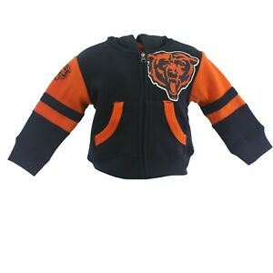Chicago Bears Official NFL Baby Infant Toddler Size Full Zip Sweatshirt New