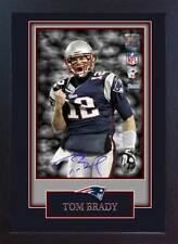 Tom Brady New England Patriots NFL signed autograph American Football Framed #07