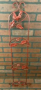 """Wrought Iron Wall Décor Large 3 Plate display Rack wall hanging 38"""""""