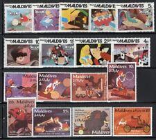 Disney Maldives 2 Sets + 3 Souvenir/Mini-Sheets Mnh