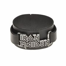 Alchemy Poker Iron Maiden: logo Leather Bracelet BRAND NEW