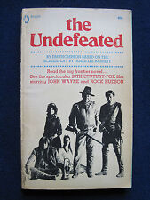 THE UNDEFEATED by JIM THOMPSON Movie Tie-In Ed. JOHN WAYNE, ROCK HUDSON Film