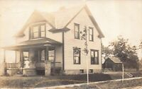 Real Photo Postcard House Broadway and Lebanon St in South Bend, Indiana~126482