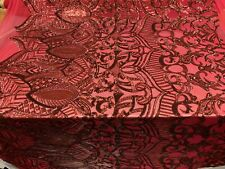 Mesh Lace Embroidery 4 Way Stretch Sequins Iridescent Burgundy By The Yard