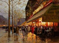 La Coupole, Montparnasse, Paris Painting by Edouard Leon Cortes Reproduction