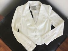 New Guess Elegant Dress Suit Jacket/ Blazer Size Large Ivory Striped
