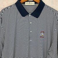 US Open 2006 Winged Foot Fairway & Green Men's Striped Polo Golf Shirt XL EUC