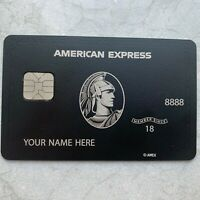 Customizable American Express Centurion Metal Black Card Collect Amex Black Card