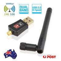 Mini 600Mbps Wireless Dual Band 802.11ac USB WiFi Adapter RTL8811AU Network Card
