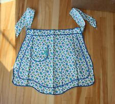 Vintage Apron*New w tag*Pride of the Blossom~Blue Apple Pear Pocket 1950's