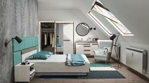 Design Bedroom Loft Furniture 5 PC Complete Set Bed Night Table Dresser New