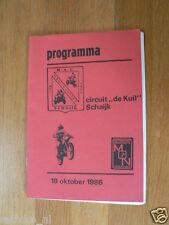 1984 MOTOCROSS PROGRAMME SCHAIJK CIRCUIT DE KUIL 19 OKT