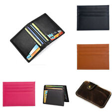 Luxury Men's Genuine Leather Thin Wallet Credit Card ID Holder Purse Mini Wallet