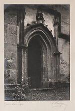 Großes Original 1929, Gotisches Tor in Murau, von Ernst Karger, signiert