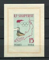 27139) ALBANIA 1963 MNH** Nuovi** Olympic G. Tokyo s/s Imperforated