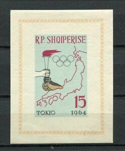 27139) Albania 1963 MNH New Olympic G. Tokyo S/S Imperforated