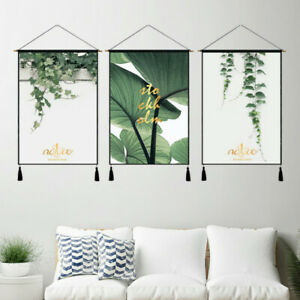 Wall Hanging Poster Print Tapestry Scrolls Art Leaves Background Room Decor Gift