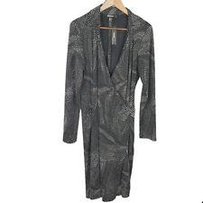 DKNY Womens Faux Wrap Dress Size M Long Sleeve Knee Length Stretch V-Neck Collar