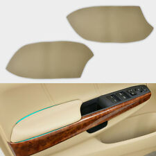 2x Beige Leather Front Door Armrest Panel Covers For 2008-2011 2012 Honda Accord