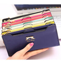 18 Card Slot Card Holder Women Button Clutch Case Lady Long Handbag Wallet Purse