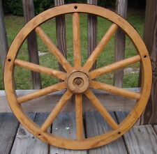 Vintage Wooden Wagon Wheel Copper Lined Rustic Country Farm Barn Decoration 20""