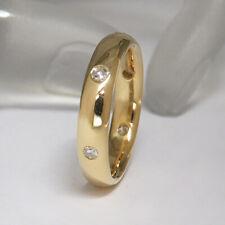 Ring Memoirering mit ca. 0,18ct Diamant in 750/18K Gelbgold Gr. 56