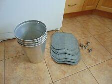 vintage / 4 maple syrup aluminium sap buckets +lid cove+taps spiles   nice  1615