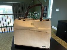 Puchibag Pet or Dog Off-White Straw Tote/Purse/Bag/Carrier - Gently Used