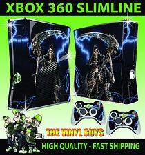 XBOX 360 SLIM STICKER GRIM REAPER DARK GOTHIC DEATH HORROR SKIN & 2 PAD SKINS