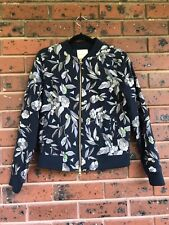 Gorman 'Nightwalker' print embroidered bomber jacket. Size 10