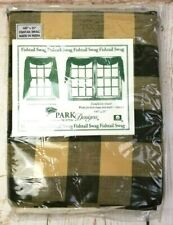 """Tavern Moss-Green/Khaki-Fishtail Swag by Park Designs 145"""" X 25"""" New In Package"""