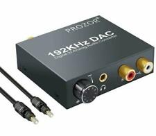 192KHz DAC Converter Volume Adjustable Digital SPDIF Optical Coaxial Toslink to