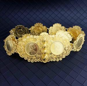 Big Algerian Wedding Bracelet Necklace Gold Belt African Bridal Bangle Accessory
