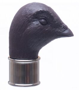 Grouse In Brown Resin Fits 25mm Chrome Collar walking stick making