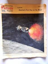 Minneapolis Tribune Picture Magazine November 13,1966- First Day On The Moon