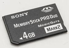 Sony Memory Stick Pro Duo Magicgate mark 2 Speicherkarte Speichermedium 4 GB 4GB