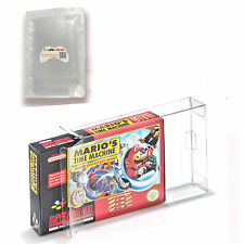 Clear Carts Case Sleeve Box for Nintendo SNES N64 Cartridge CIB Protectors 10PCS