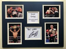 """Boxing Scott Quigg Signed 16"""" X 12"""" Double Mounted Display"""