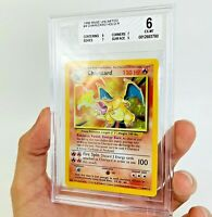 BGS 6 BLACK DOT CHARIZARD Holo 4/102 Base Set Pokemon Card Beckett MISPRINT