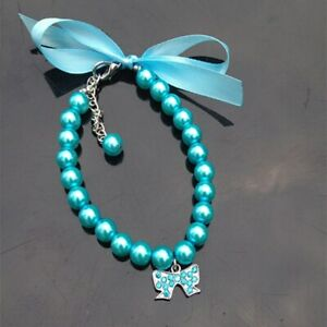 Dog Collar Pet Collars Pearl Necklace Dog Cat Adornment Leash Dogs Pet Products