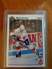 PRISTINE 1991-92 UPPER DECK FRENCH WAYNE GRETZKY CC TEAM CANADA