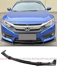 FOR 2016-2017 10TH GEN HONDA CIVIC X FC FRONT BUMPER LIP SPLITTER - JDM EVO TYPE