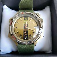 Wrist Watch Komandirskie Admiralskie USSR Vostok + New NATO Strap