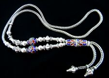 Vintage Sterling Silver Necklace with Enamel Balls